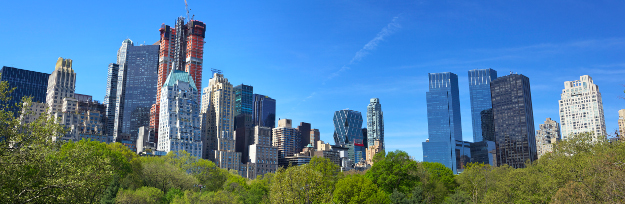 Central Park with Manhattan skyline in New York City